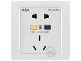 品牌:佳安宝 GAB&#10名称:漏电保护(墙壁)五孔电源插座 10A&#10型号:J-1-10L-10-CA