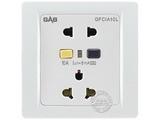 品牌:佳安宝 GAB&#10名称:漏电保护(墙壁)五孔电源插座 10A&#10型号:J-1-10L-10-CB