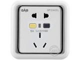 品牌:佳安宝 GAB&#10名称:漏电保护(墙壁)五孔电源插座 10A&#10型号:J-2-10L-10-CA