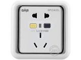 品牌:佳安宝 GAB&#10名称:漏电保护(墙壁)五孔电源插座 16A&#10型号:J-2-10L-16-CA