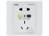 品牌:佳安宝 GAB 名称:漏电保护(墙壁)五孔电源插座  型号:QS-1-10L-10-CA