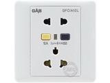 品牌:佳安宝 GAB&#10名称:漏电保护(墙壁)五孔电源插座 &#10型号:QS-1-10L-10-CB