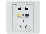 品牌:佳安宝 GAB 名称:漏电保护(墙壁)五孔电源插座 16A 型号:QS-1-10L-16-CA