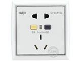品牌:佳安宝 GAB&#10名称:漏电保护(墙壁)五孔电源插座 &#10型号:T-2-10L-1O-CA