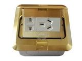 品牌:飞利富 Feilifu&#10名称:一位二极双用插座、一位二级带接地插座地面插座&#10型号:HTD-4