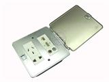 品牌:基讯 EXCEL&#10名称:不锈钢超薄强弱电组合地插&#10型号:GC-DG/CB/F3