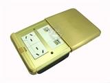 品牌:基讯 EXCEL 名称:金色平推强弱电组合铜地插 型号:GC-DT/PT/F2