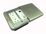 品牌:基讯 EXCEL&#10名称:不锈钢平推强弱电组合地插&#10型号:GC-DG/PT/F2