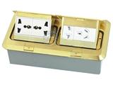 品牌:飞利富 Feilifu&#10名称:双联4位电源组合铜合金地面插座&#10型号:HTD-402