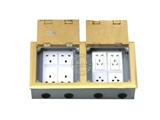 品牌:飞利富 Feilifu 名称:弱电+电源组合双仓地面插座 型号:HTD-3402