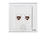 品牌:施耐德奇胜 Clipsal&#10名称:双位电脑插座&#10型号:EV52RJ5-B