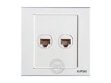 品牌:施耐德奇胜 Clipsal&#10名称:双位电话插座&#10型号:EV52TS