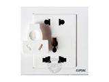品牌:施耐德奇胜 Clipsal&#10名称:复合五孔插座&#10型号:EV426UI-B
