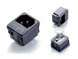 品牌:奥盛 Aosens&#10名称:卡入式IEC-C14服务器专用插头模块&#10型号:AS-SS-8B-1