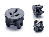 品牌:奥盛 Aosens&#10名称:国标3扁圆形面板插座模块&#10型号:AS-SS-8D