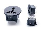 品牌:奥盛 Aosens&#10名称:万用圆形面板插座模块&#10型号:AS-SS-801-1