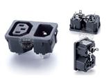 品牌:奥盛 Aosens&#10名称:IEC-C13-C14服务器专用2联组合模块&#10型号:AS-WD-200