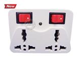品牌:国产 Guochan&#10名称:国标一转二插座/一转二转换插头/带开关/万能转换插头 小转换头&#10型号:212