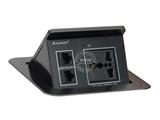 品牌:奥盛 Aosens&#10名称:弹起式电源桌面插座&#10型号:AS-110