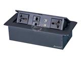 品牌:奥盛 Aosens 名称:锌合金弹起式桌面插座 型号:AS-ZH-608