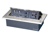 品牌:奥盛 Aosens&#10名称:锌合金弹起式桌面插座&#10型号:AS-ZH-602