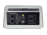 品牌:奥盛 Aosens&#10名称:气撑式弹起桌面插座&#10型号:AS-ZH-307F