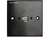 品牌:奥盛 Aosens&#10名称:多媒体面板&#10型号:AS-ZJ-WP108(黑色)