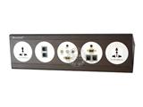 品牌:奥盛 Aosens 名称:酒店多媒体面板桌面插座 型号:AS-ZJ-F105