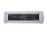 品牌:奥盛 Aosens 名称:电动翻转桌面插座 多媒体台面插座 型号:AS-ZH-001