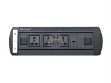 品牌:奥盛 Aosens 名称:电动翻转桌面插座 多媒体台面插座 型号:AS-ZH-007