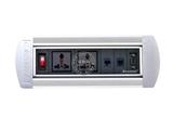 品牌:奥盛 Aosens&#10名称:手动翻转桌面插座 多媒体台面插座&#10型号:AS-ZH-401