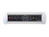 品牌:奥盛 Aosens&#10名称:手动翻转桌面插座 多媒体台面插座&#10型号:AS-ZH-404