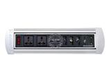 品牌:奥盛 Aosens&#10名称:手动翻转桌面插座 多媒体台面插座&#10型号:AS-ZH-405