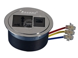 品牌:奥盛 Aosens 名称:桌面插座 穿线盒桌面插座 型号:AS-ZH-802