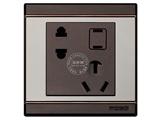 品牌:品上 POSO 名称:一位二扁插加连体二三极插座 型号:S90/426/10EUSL