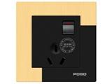 品牌:品上 POSO 名称:一位单控开关10A三扁插座 型号:AF/15/10S/A