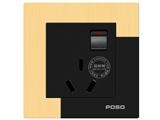 品牌:品上 POSO 名称:一位单控开关16A三扁插座 型号:AF/15/16S/A