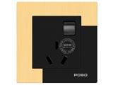 品牌:品上 POSO 名称:一位双控开关16A三扁插座 型号:AF/15/2/16S/A