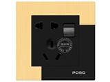 品牌:品上 POSO 名称:一位双控开关二三极插座 型号:AF/15/2/10USL/A