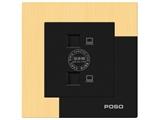 品牌:品上 POSO 名称:二位电脑插座 型号:AF/C01/2/A