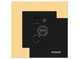 品牌:品上 POSO 名称:电话、电视插座 型号:AF/T01/TV01/A