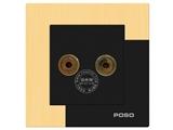 品牌:品上 POSO 名称:一位音响插座 型号:AF/M6/A