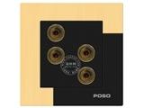 品牌:品上 POSO&#10名称:二位音响插座&#10型号:AF/M6/2/A