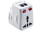 品牌:奥盛 Aosens&#10名称:全球通转换插头/双灯旅行转换器(带电源指示灯) 6A&#10型号:AS-CQ-B03