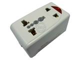 品牌:奥盛 Aosens&#10名称:全球通转换插头/旅行转换器 英标1转4输出多功能插头 13A 过载保护 带灯&#10型号:AS-CQ-A08