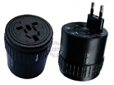 品牌:奥盛 Aosens&#10名称:全球通转换插头/旋转式旅行转换器 6A 带灯&#10型号:AS-CQ-A06