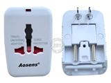 品牌:奥盛 Aosens&#10名称:全球通USB转换插头 旅行转换器 &#10型号:AS-CU-119