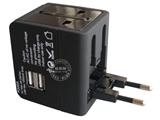 品牌:奥盛 Aosens&#10名称:全球通双USB充电多功能转换插头 旅行转换器 磨砂工艺 (USB DC 5V 10000mA)&#10型号:AS-CU-201