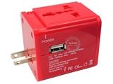 品牌:奥盛 Aosens&#10名称:全球通USB转换插头 旅行转换器 带防雷保护(USB DC 5V 1000mA)&#10型号:AS-CU-107