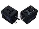 品牌:奥盛 Aosens&#10名称:全球通单USB转换插头 旅行转换器 磨砂工艺 带防雷保护(USB DC 5V 2000mA)&#10型号:AS-CU-106
